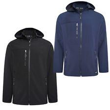 Mens Soft Shell Full Zip Hooded Outdoor Jacket Top Size M L XL 2XL 3XL 4XL 5XL