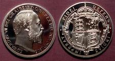 1905 KING EDWARD VII PEWTER PATTERN PROOF SHIELD CROWN