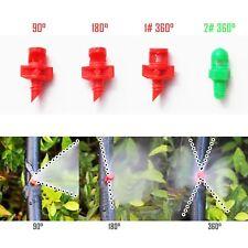 25/100pcs EZ Clone Machine Hydroponic Sprayer Nozzle Jet Mister 90°/180°/360°