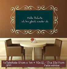 Tafelfolie Tafel Folie selbstklebend Wandaufkleber Memoboard Notizen Wandtafel
