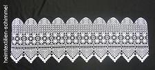 SPITZE Panneaux Scheibengardine Gardine Scheibenhänger Vorhang weiß H=0,26m