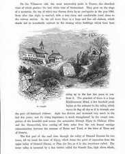 Saint-Gingolph VS HOLZSTICH um 1880 Kanton Wallis Schweiz