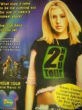 CHRISTINA AGUILERA 2000 Two Hour Tour PROMO POSTER AD