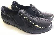 Vaneli Sport Lizard Print Attie Slip On Loafer Black Patent size 8.5 W Wide