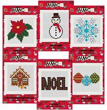 Christmas Mini Cross Stitch Kits Snowflake Snowman Poinsettia Noel Baubles House