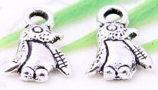 Wholesale 90/190Pcs Tibetan Silver(Lead-Free)Lovely Penguin Pendants 11x7mm