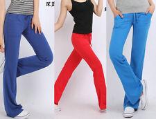NEW Girl Women Stretch Soft Lounge Yoga Basic Casual Sweat Pants Track Gym Sport