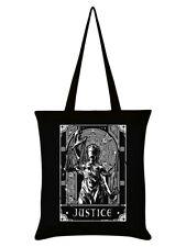 Deadly Tarot Tote Bag Justice Black 38x42cm