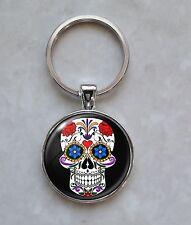 Sugar Skull Dia De Los Muertos Calavera Keychain