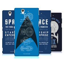 Oficial de Star Trek barcos de la línea Funda Rígida Posterior Para Sony Teléfonos 3