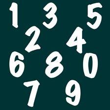 9 cm Zahlen Aufkleber Klebezahlen Ziffern Sticker 1 bis 200 Stück weiß SA-68