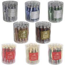 Christmas Decoration - 18 Pack Droplet/Icicle Baubles - 90mm - Choose Colour