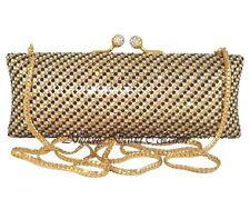 Anthony David Clutch Evening Bag with Black, Gold & Clear Swarovski Crystals