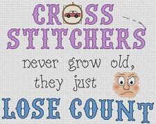 "Cross Stitchers Lose Count Cross Stitch Design (10""x8"",25x20cm,kit/chart)"