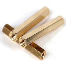 20PCS Brass Female-Female Threaded Hexagon Standoffs Spacers M2 x (3mm-30mm)