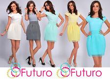 Luxury Limited Tulip Dress Foam Feel Neoprene Lovely Colours Cap Sleeve EX01