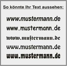 1. Zeile Aufkleber Beschriftung 30-180cm Werbung Sticker Auto Werbebeschriftung