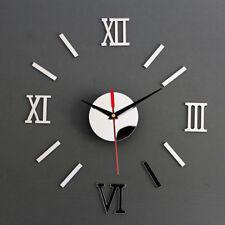 Grande 3d Diseño Reloj De Pared De Lujo Espejo decoración hogar bricolaje
