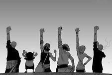194136 One Piece Luffy Zoro Japan Anime Room Club Wall Print Poster CA