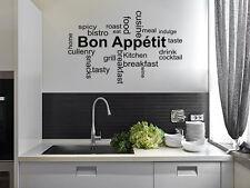 """Cucina da parete citazione """"BON del"""" Wall Sticker, Decalcomania, trasferimento, Tatuaggio, vinile."""