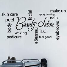 HAIR SALON Collage Wall Art Vinyl Sticker Hairdressers Beauty Salon shop Nail