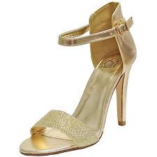 New women's shoes open toe stilettos high heel dressy gold fashion formal prom