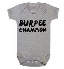 Burpee Champion Babygrow Baby Wind Burping Funny Printed Slogan