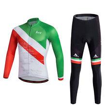 Cycling Kit Set Reflective Men Bike Jerseys And Bicycle Padded Pants / Tights