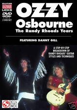 OZZY OSBOURNE RANDY RHOADS YEARS NEW GUITAR 2 DVD SET