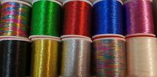 Lurex Embroidery Thread - Metallic - 10 colours -182m / 200 Yard Reel