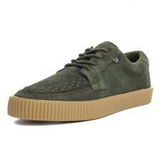 T.U.K. A9255 Nuevo Raro Hombres Zapatos Suela de goma ante Verde Enredadera Zapatillas Skater