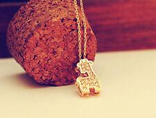 Super Adorable *Giraffe* Rose Gold/ Gold GP Pendant Necklace
