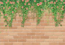 3D flower vine green wall Wallpaper Decal Dercor Home Kid Nursery Mural  Home