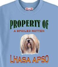 Dog T Shirt - Property of a Spoiled Rotten Lhasa Apso - Adopt Men Women  # 87