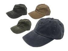 Unisex con aspecto envejecido 100% algodón relajado Ajustable Gorra de béisbol