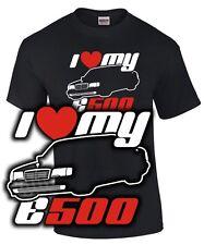 I Love My e500 tuning w 124 Accessoires clé à chocs Fun retro culte t-shirt