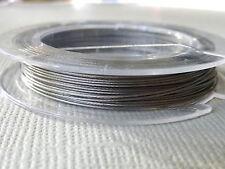 50 m Rolle Schmuckdraht 0,30 - 0,45 mm silber Juwelierdraht Stahlseide 2779