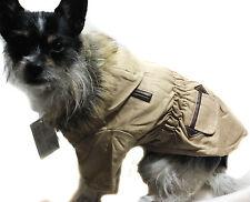 Mantel Hundejacke Hundemantel Jacke S M L XL Hund Winter beige warm NEU