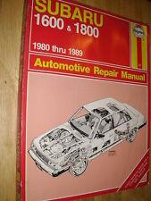 1980-1989 SUBARU 1600 AND 1800 SHOP MANUAL 88 87 86 85+