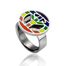 Rainbow Pride Peace Steel Ring