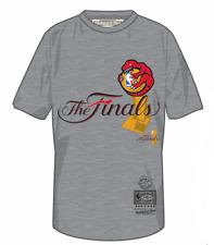 Men's Toronto Raptors Mitchell & Ness Hug The Trophy The Finals Logo Grey Shirt