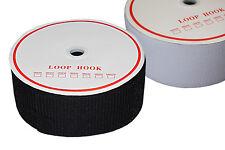 Klettband zum Aufnähen Weiß und Schwarz 16, 20, 25 , 30, 38, 50, 100 mm 25m Neu