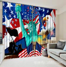3D USA Flag 195 Blockout Photo Curtain Printing Curtains Drapes Fabric Window CA