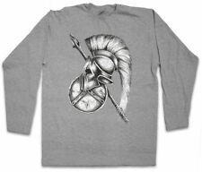 Spartan Gear Manica lunga T-shirt Sparta Spartani SCUDO LANCIA CASCO Leonidas 300
