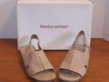 "Naturalizer Kidman Sand Dune or Earth Brown Leather Sandals 1 1/4"" Heel"