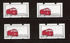 4 EIFA SET OF 4 VALUES AUTO-POST VOLKSWAGEN 1950 KLUSSENDORF ATM LABELS MACHINE