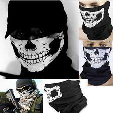 Ghost Skull Skeleton Face Mask Balaclava Biker Ski Neck Tube Scarf Snood COD UK