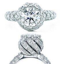 """Women's Luxury """"Russain Queen"""" 925 SILVER Rhodium pl engagement wedding ring new"""