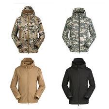Men Soft Shell Military Windbreaker Jacket Outdoor Waterproof ESDY Hooded Coat