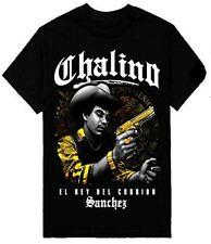 MENS SHOP PRIVATE LABEL Chalino Sanchez T-Shirt EL Rey Del Corrido Printed On Sh